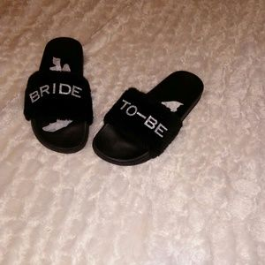 Other - Last Pair Blinged Out Bride to Be Slippers
